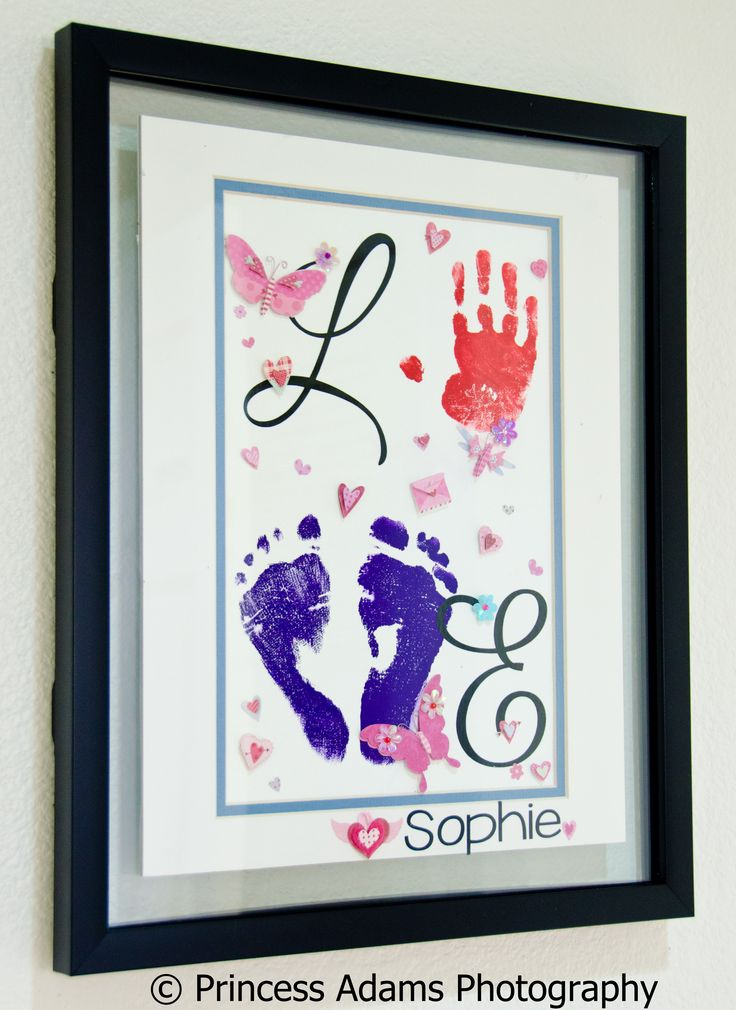 """Made with """"LOVE"""" by me and my 21-month-old daughter. It's an early Valentine's Day present for my husband :) #floatingframe #valentine's #handmade"""