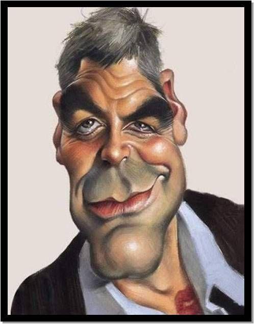 George Clooney Karikatuur