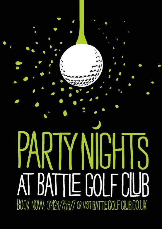 Golf Party Flyer