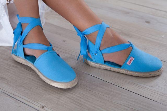 ViLa Australia - Children's Shoes  Cienta - Espadrilles Tie Up Fluro Blue