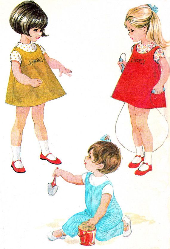 1960s Girls Dress Pattern McCalls 8561 Toddler by paneenjerez, $6.00