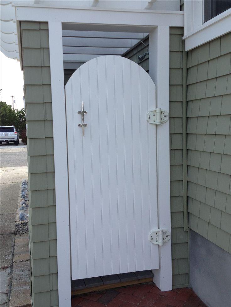 Outdoor Shower With Azek Trim Cedar Impressions Siding