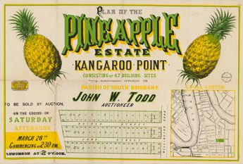 Poster Estate Map - Pineapple Estate, Kangaroo Point | State Library of Queensland Shop
