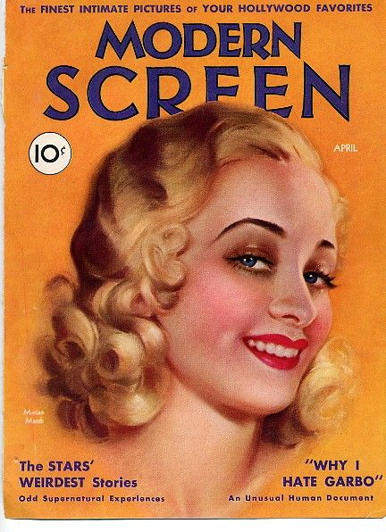 """Marian Marsh on the front cover of """"Modern Screen"""" magazine, USA, 1932."""