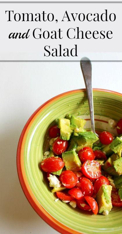 Delicious Tomato, Avocado and Goat Cheese Salad
