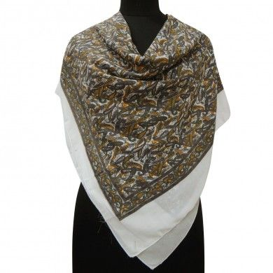 Georgette White Scarf Square Women New Stole Summer Head Shoulder Wrap Sarong