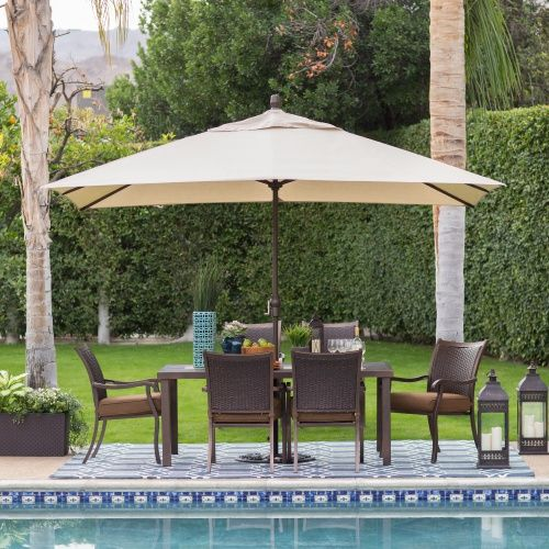 Aluminum Rectangle Patio Umbrella Will Be The Perfect Accompaniment To Your  Oval Or Rectangular Dining Table Measuring
