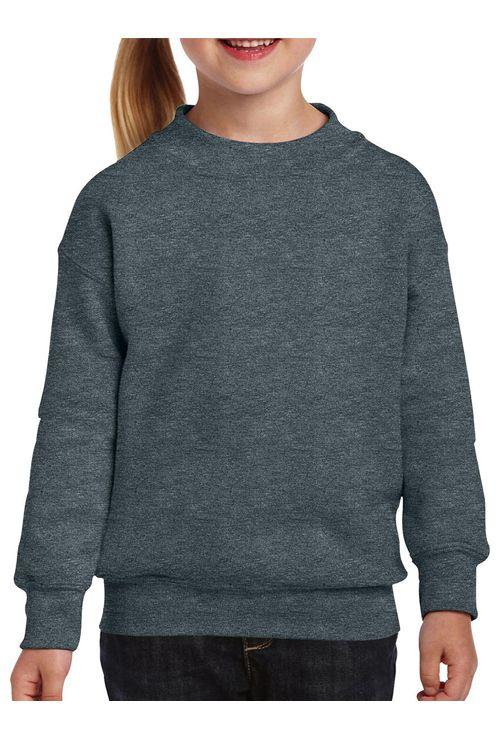 Bluză gri pentru copii Heavyweight Gildan din 50% bumbac şi 50% poliester #personalizare #bluze #copii #gri #serigrafie #imprimare #broderie