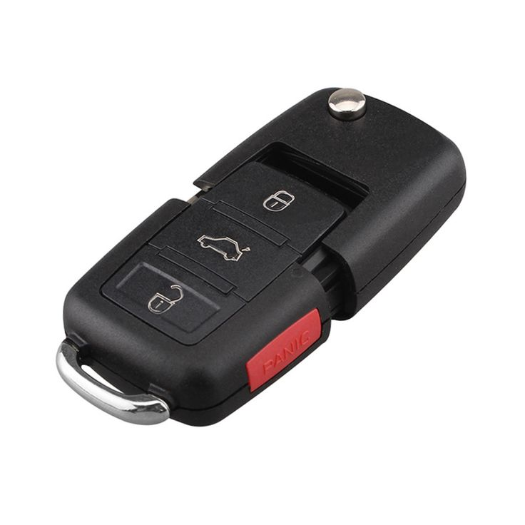 NEW FOR VW Polo Passat B5 B6 golf 4 5 6 Touran Bora Jetta 3+1 4 Buttons Replacement Car Key Shell with Red Panic Button
