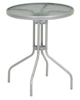 Bistro stolík BLOKHUS Ø60 cm oceľ/sklo | JYSK