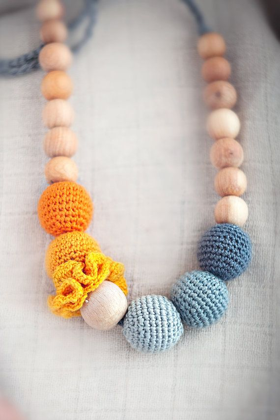 nursing necklace - teething necklace -  breastfeeding necklace for mom and baby - babywearing on Etsy, $25.00