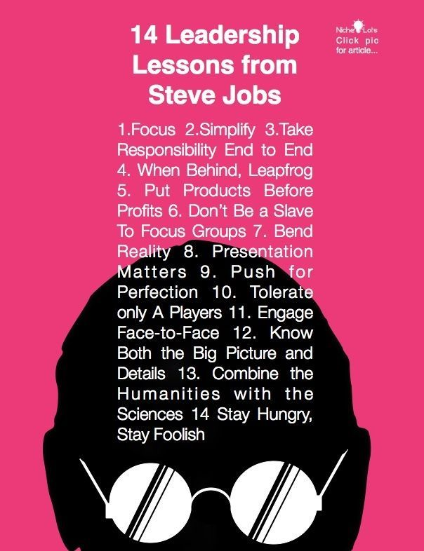 a study on steve jobs leadership Leader case study on steve jobs the case mainly highlight _trait and behavioral leadership theories_ aspect in steve jobs personality however if he is.