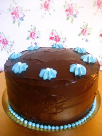 Old Fashioned Chocolate Cake With Glossy Chocolate Icing Recipe