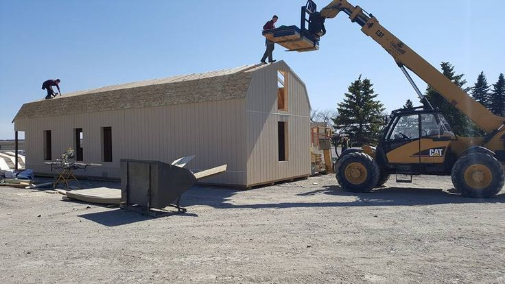 Custom lofted barn cabin being built. 16x52 with added height