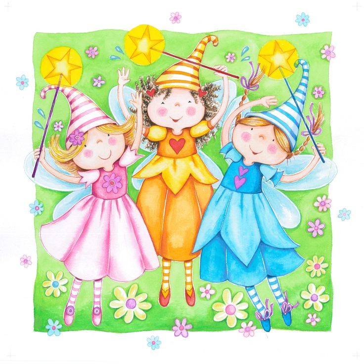 """Illustration for my new project: """"The Witty Little Fairies"""" The Pinklette,Bluette and Mandarine. http://cosesdefades.blogspot.com.es/"""