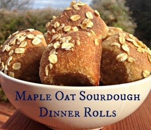 Maple Oat Sourdough Dinner Rolls on the Grain Mill Wagon, by Kristen @ Smithspirations