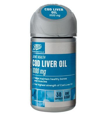 Boots Pharmaceuticals Boots COD LIVER OIL 1000 mg 30 capsules 10149587 8 Advantage card points. Boots Cod Liver Oil and Fish Oil with Vitamins A D Food Supplement 30 capsules FREE Delivery on orders over 45 GBP. (Barcode EAN=5045097866974) http://www.MightGet.com/april-2017-1/boots-pharmaceuticals-boots-cod-liver-oil-1000-mg-30-capsules-10149587.asp