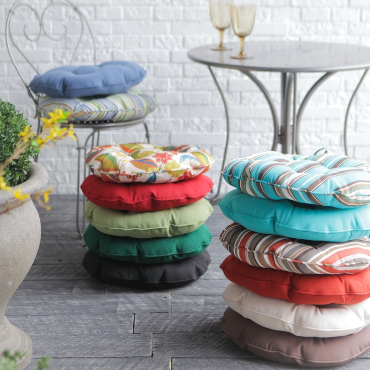 High Quality Round Bistro Outdoor Seat Cushion   Set Of 2 | Www