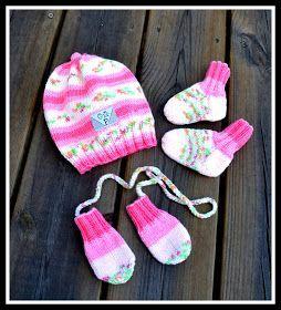 Välkommen till bloggen Stickning och Virkning: Set med mössa, vantar, sockor till nyfödd i garnet Soft Raggi från Järbo garn