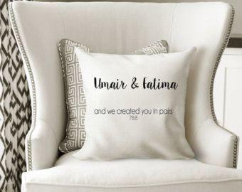 Couples cushion/Islamic home decor