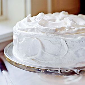 Yellow Butter Cake with Vanilla Meringue Frosting | MyRecipes.com