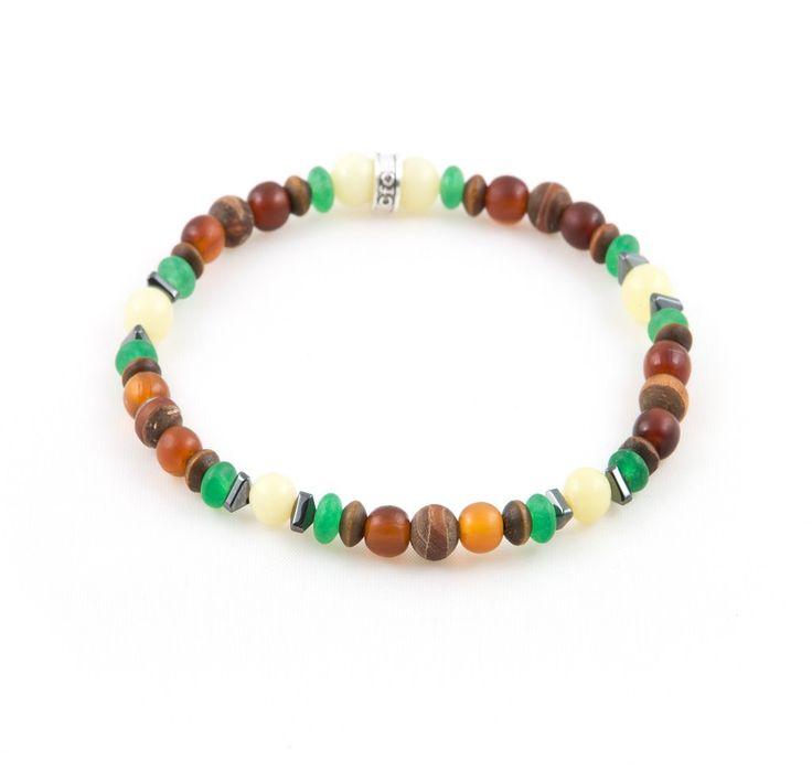 "Men's ""Earth-Tone"" Multi Bracelet"
