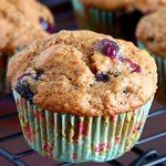 Eggless Muffin Recipe -- made 3 batches 1 w/ rhubarb, 1 with raisins, 1 w/ apples