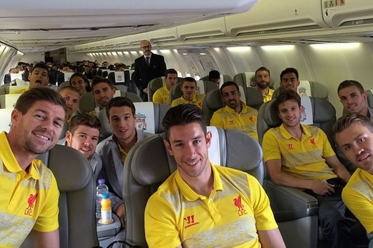Members of the #LFC squad share their shots on the way to Champions League clash with FC Basel in Switzerland. #ChampionsLeague #UCL