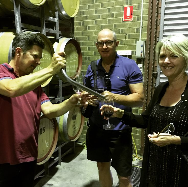 A barrel tasting with Tom at Soulgrowers Wines, the 2016 wines are shaping up to be superb.