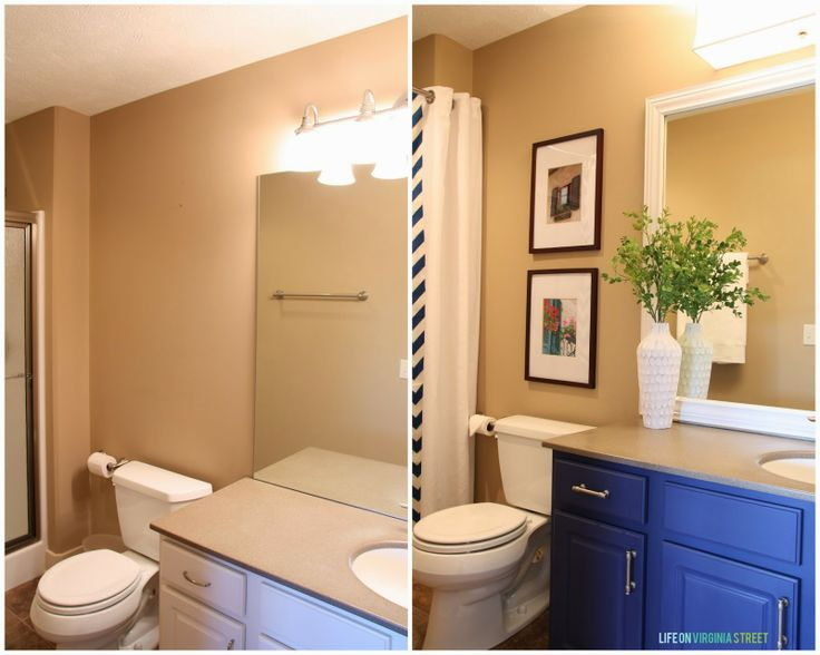 Easy Lighting Upgrade and Framing a Builder-Grade Mirror Details - small changes, HUGE impact!