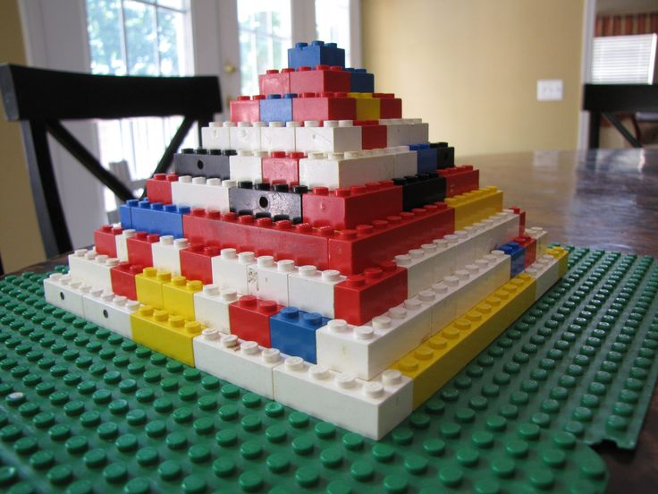 Pyramids out of Legos. (ancient Egypt)