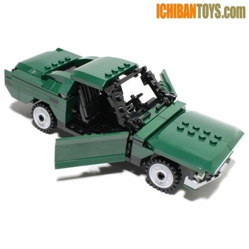 Bullitt's 1968 Fastback - Custom LEGO Element Kit | 2011 | 205 pieces | If I'm going to design a Mustang-inspired car, why would I not base it on Bullitt's Fastback?