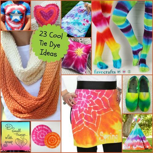 23 Cool Tie Dye Ideas. Tie dye is the perfect summer craft! Have a blast this summer creating one-of-a-kind tie dyed outfits, accessories and more!