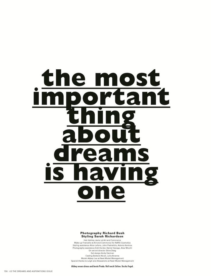 the most important thing...