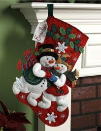 Bucilla ® Seasonal - Felt - Stocking Kits - Snowflake Snuggle Sharon