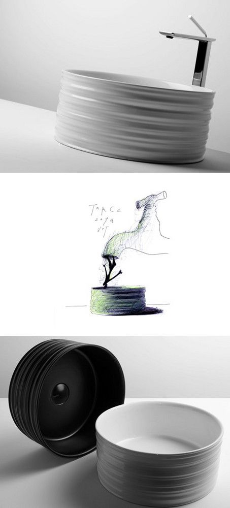 #Trace: forme scultoree levigate dal tempo - Il lavabo Valdama firmato dallo Studio V+T @valdamais  #GianniVeneziano #LucianaDiVirgilio #VenezianoTeam #Trace #bathroom #washbasin #ceramic #sculpture #sign #design