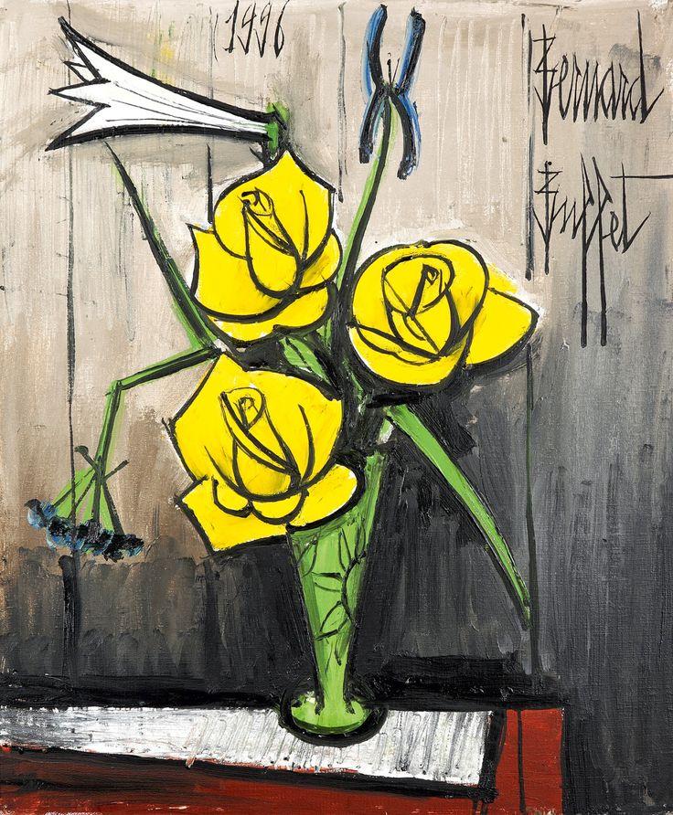 Art for your wallpaper: [EXPRESSIONISM] Bernard Buffet's Flowers