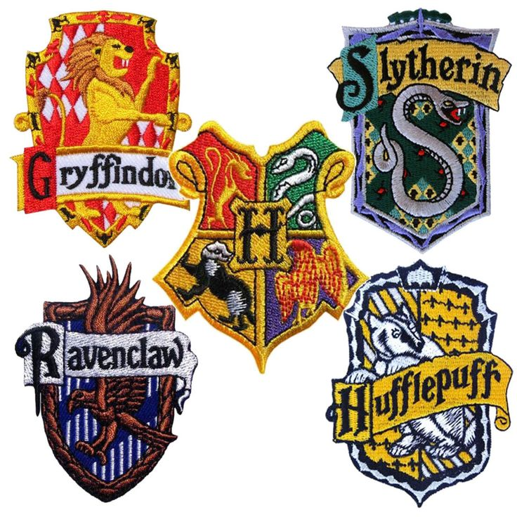 Harry Potter Crest Iron / Sew On Patch Embroidered Hogwarts School Motif Badge