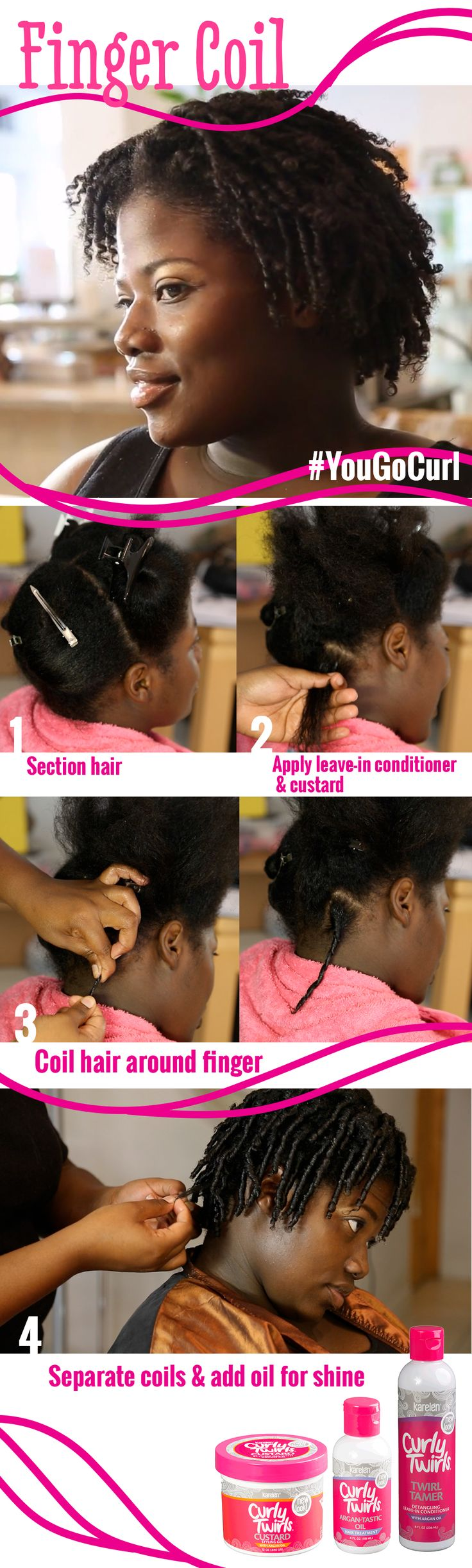 Finger Coil Out on Natural Hair