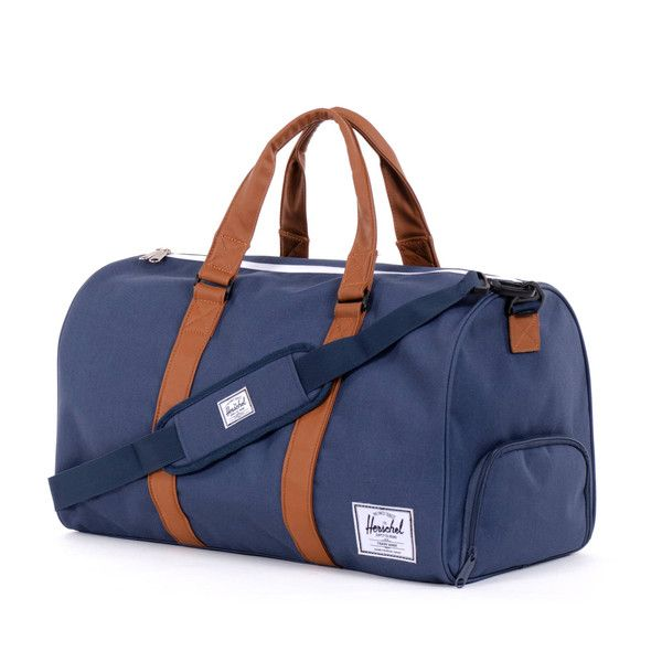 I think this one's the ticket.  Novel Duffle | Herschel Supply Co USA