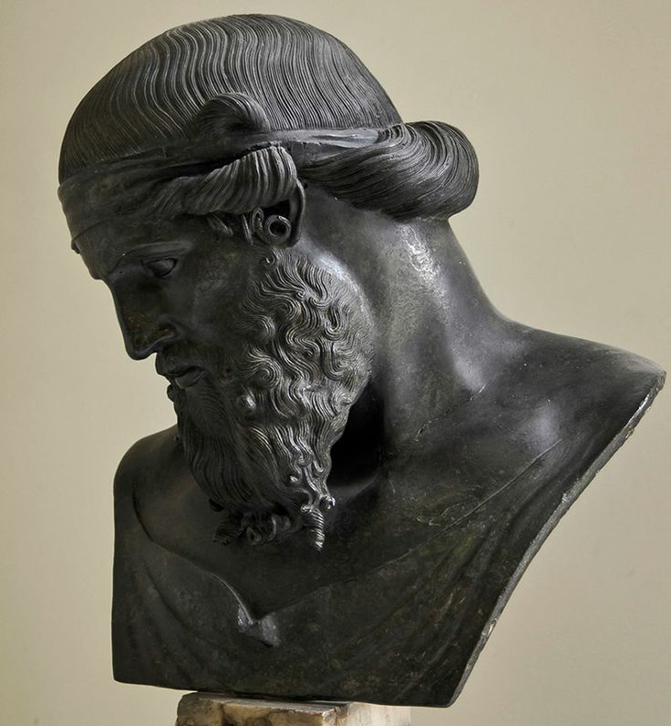 Bronze bust. Roman copy of the mid-1st cent. BCE after a Hellenistic original. Inv. No. 5618. Naples, National Archaeological Museum.