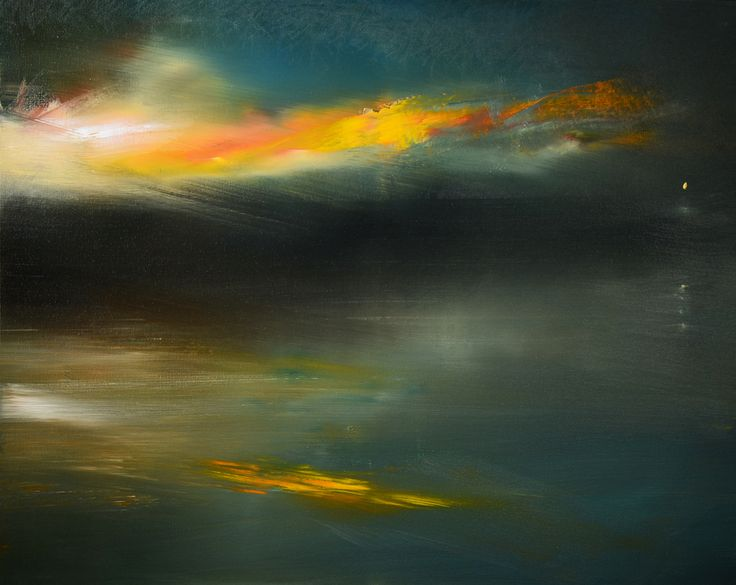 """""""Nocturne In Gold And Blue"""" oil on canvas  24""""x30"""""""