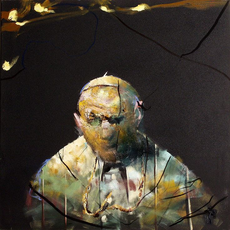 Håkon Gullvåg (Norwegian, b. 1959)- portrait of Pope John Paul II