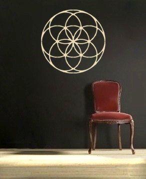 seed of life mandala vinyl Wall DECAL-flower Sacred geometry, sticker art, home decor. $30.00, via Etsy.