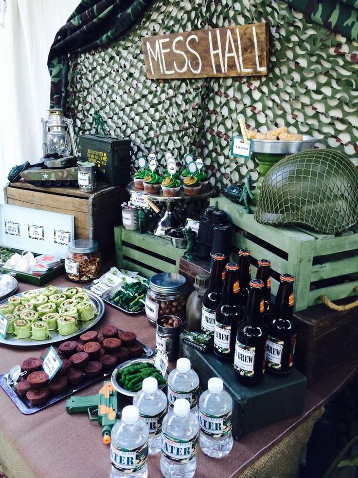 Best 25 army party ideas on pinterest military party for Army theme party decoration ideas