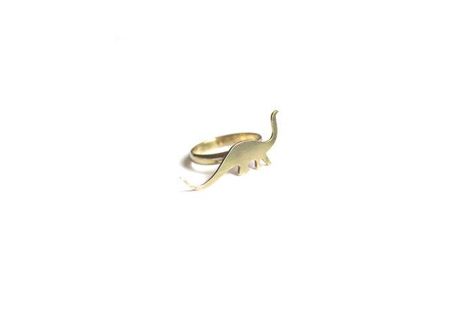 Brass Dinosaur Ring by SMITH Jewellery