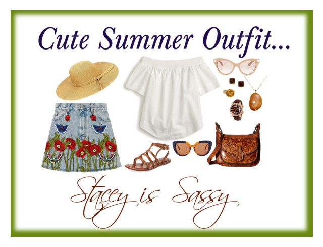 """""""Cute summer outfit"""" by staceyissassy on Polyvore featuring Bernardo, Patricia Nash, Gucci, J.Crew, Marni, Valentino, THEATRE PRODUCTS, Poiray Paris, Jaeger-LeCoultre and CVC Stones"""
