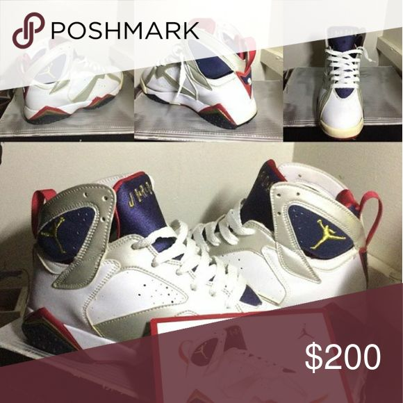 Jordan Olympics 7s 2000 Olympics 7s sz8 9/10 condition og all with box and Jordan cord Jordan Shoes Sneakers