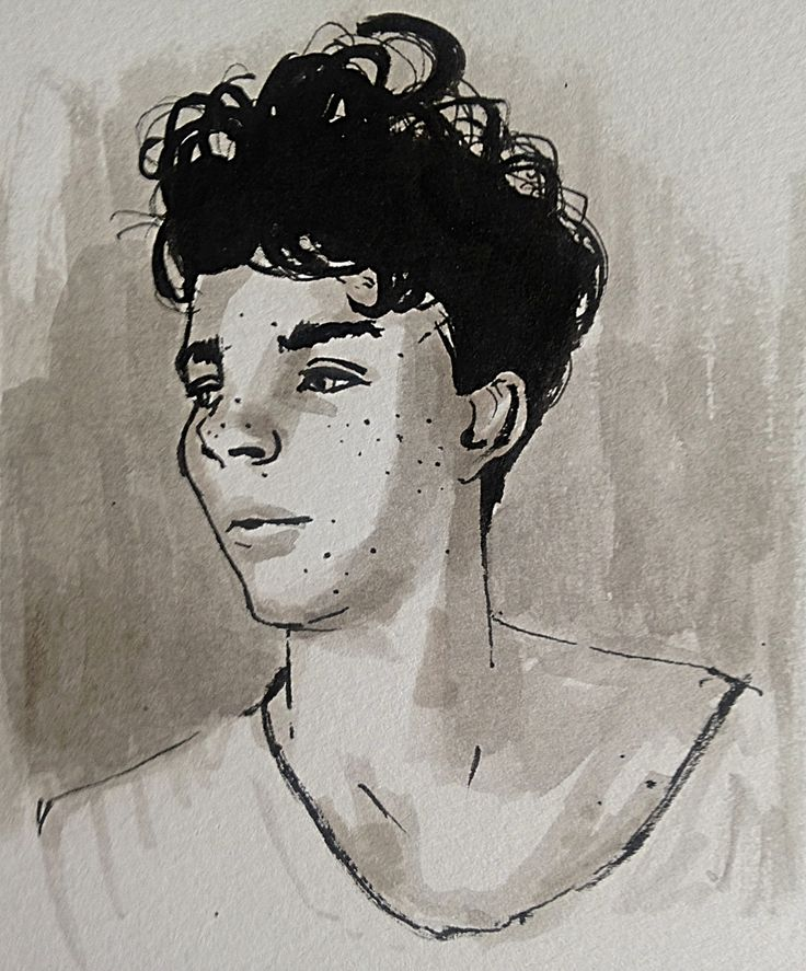 Wicked model from swstark.tumblr.com.  #Portrait #drawing #imperfections #blackandwhite #penandink