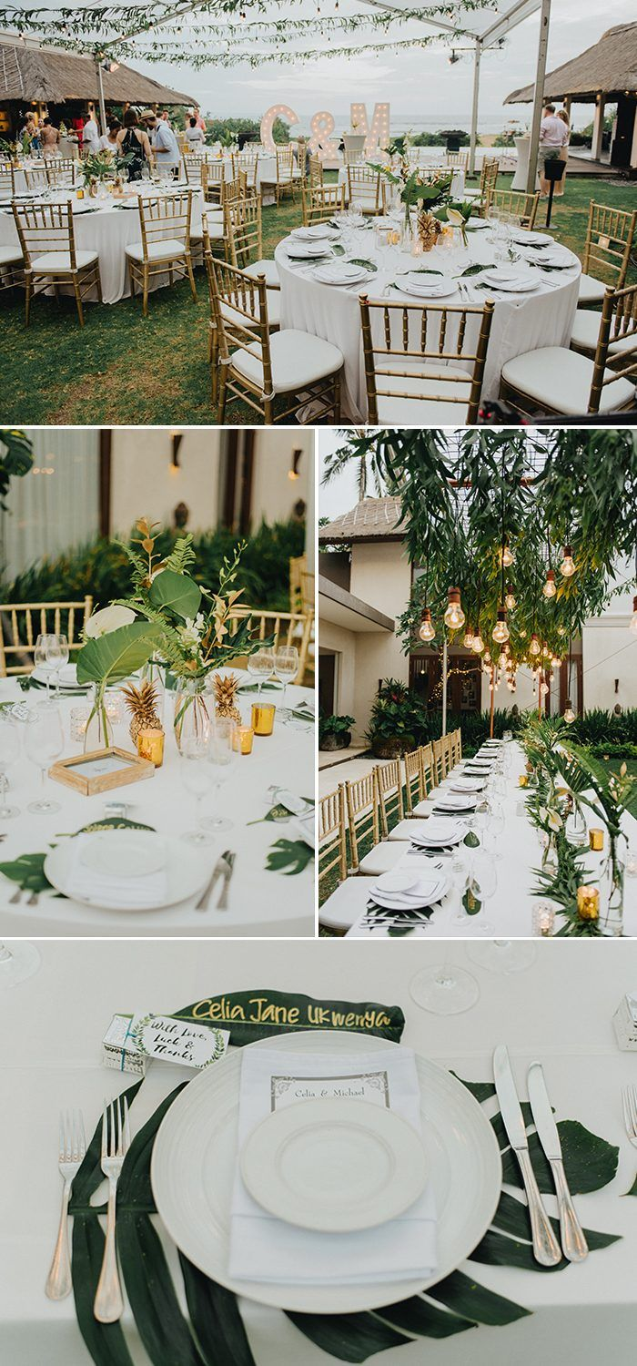 This Seseh Beach Villas Wedding Is A Vision Of Tropical Elegance